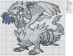 Pokemon - Reshiram by Makibird-Stitching.deviantart.com on @deviantART
