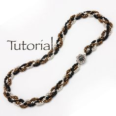 Beaded Rope Necklace Tutorial Plaited Peanuts by JewelryTales, $5.00
