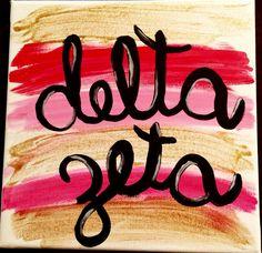 Delta Zeta canvas