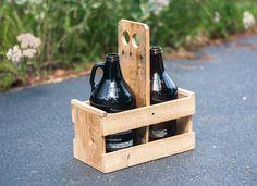 Reclaimed Beer Growler Carrier