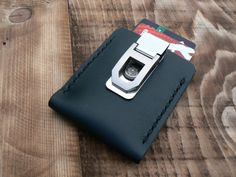 Epoint Multicolored Solid Mens Leather Money Clip Xmas Gift for Father