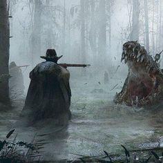Fantasy Monster, Monster Art, Arte Horror, Horror Art, Scary Art, Creepy, Fantasy Setting, Fantasy Landscape, Dark Fantasy Art