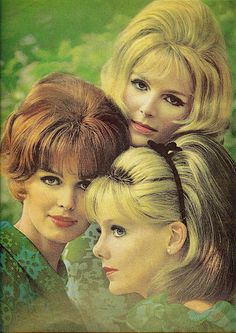 1966 Hair - this looks like it could have been a  Breck shampoo ad. They often had drawings like this.