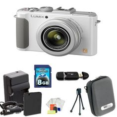 Panasonic Lumix DMC-LX7 Digital Camera (White) Kit Includes: 8GB Memory Card, Memory Card Reader, Extended Life Replacement Battery, Rapid Travel Charger, Table Top Tripod, LCD Screen Protectors, Cleaning Kit & Case by Panasonic. $496.99