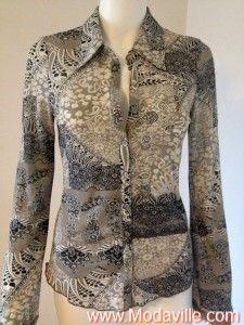Bebe grey floral print blouse http://www.modaville.com/store/shop/all/bebe-grey-flower-print-blouse/