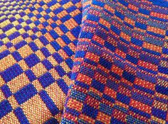 Blue and orange double weave blocks I need to read this to understand the concept....