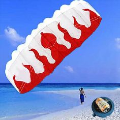Braided Line Soft plus material Parachute Flame Sports Beach Kite  Worldwide delivery. Original best quality product for 70% of it's real price. Buying this product is extra profitable, because we have good production source. 1 day products dispatch from warehouse. Fast & reliable...