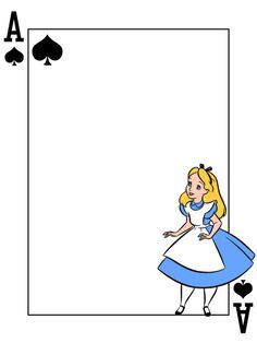 """Alice - Ace of Spades - Playing Card - Project Life Journal Card - Scrapbooking ~~~~~~~~~ Size: 3x4"""" @ 300 dpi. This card is **Personal use only - NOT for sale/resale** Logo/clipart belongs to Disney. Font is Card Characters http://haroldsfonts.com/portfolio/card-characters/ *** Click through to photobucket for more versions of this card ***"""