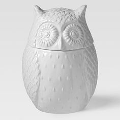 Owl Cookie Jar - just ♥ owls!  From http://www.westelm.com/products/8111833/?catalogId=5=3917930_ven=AfCmtyCont_cat=Reward=_pla=GAN_ite=Std