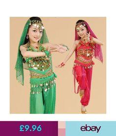 Children s Dancewear Girls Kids Belly Dance Costume Outfit Pants Bollywood  Indian Carnival Children  ebay   9e3692feebb4