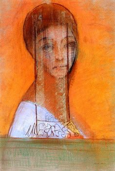 redon, veiled woman, 1895