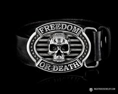 Freedom or Death Skull Belt Buckle in Solid Sterling Silver. Boucle De  CeintureBouclesArt ... a018c9bd111