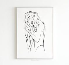 Figure Drawing, Line Drawing, Painting & Drawing, Line Art Tattoos, Girl Posters, Sexy Drawings, Abstract Line Art, Girl Sketch, Scandinavian Art