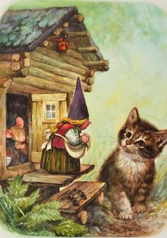 From *Gnomes* by Wil Huygen 💛 Rien Poortvliet Woodland Creatures, Magical Creatures, David The Gnome, Kobold, Mythological Creatures, Fairy Art, Outdoor Art, Illustrations, Whimsical Art