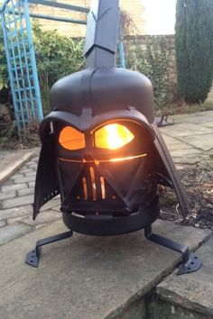 Darth Vader fire pit....Gotta check out this guy he does all kinds of different fire pits