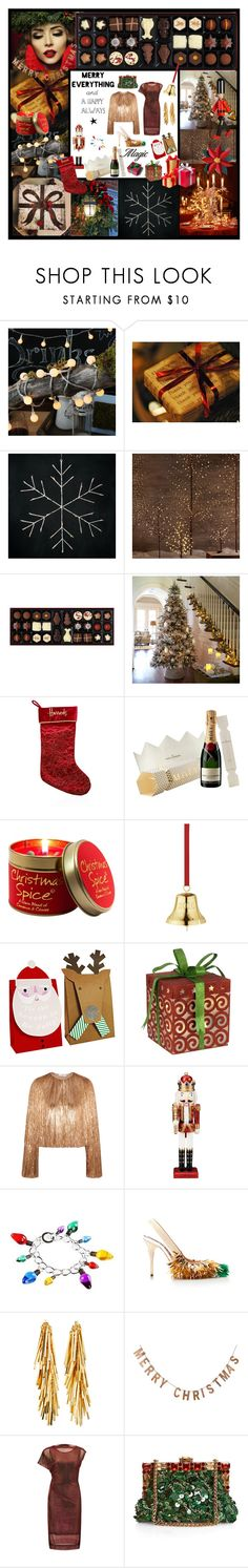 """""""My Perfect Dream Christmas"""" by littlesaraha ❤ liked on Polyvore featuring Restoration Hardware, Burberry, Lily-Flame, Givenchy, Bombay, Rochas, Eddie Borgo, Threshold, Vivienne Westwood Anglomania and Dolce&Gabbana"""