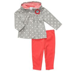2-Piece Hooded Cardigan Set