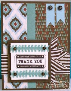 masculine thank you card by Alyson Mayo