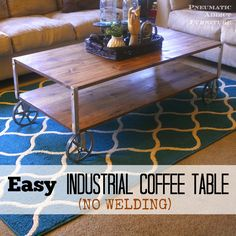 Ana White | Build a Easy Industrial Coffee Table - Pneumatic Addict Feature! | Free and Easy DIY Project and Furniture Plans