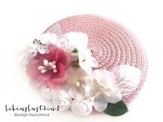 Haarschmuck & Kopfputz - Ministrohhut Fascinator Headpiece pale rose*JALE*  - ein Designerstück von Lebenslust2in1 bei DaWanda