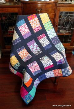 The Fat Quarter Shop have designed another pre-cut friendly quick quilt pattern called Charm Box....