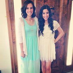 Katherine and Lauren! Aren't they so beautiful!?!