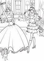 Barbie Coloring Pages The Princess And Popstar