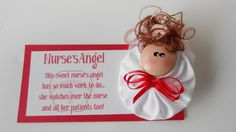Nurse's Angel Choice of Magnet or Pin