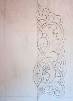 Hand Embroidery Designs, Diy Embroidery, Aluminum Foil Art, Pewter Art, Ornament Drawing, Islamic Art Pattern, Wood Carving Designs, Pencil Design, Celtic Patterns