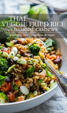 Vegetarian Fried Rice, Veggie Fried Rice, Gluten Free Vegetarian Recipes, Gluten Free Recipes For Dinner, Vegetarian Recipes Dinner, Veg Recipes, Vegan Dinners, Whole Food Recipes, Cooking Recipes