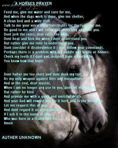 A Horse Prayer
