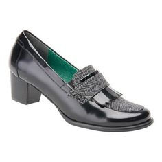 Women's Ros Hommerson Amy Leather/Grey Herringbone (US Women's 6 SS (Extra Narrow))