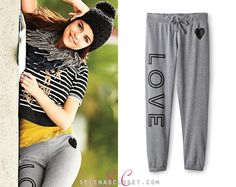 Here you'll find information on the latest outfits that Selena has worn and where to get them. Everything from her day to day, to her award show dresses straight off the runway. Selena Gomez Closet, S Signature, Latest Outfits, Sport Outfits, Heather Grey, Camisole, Celebrity Style, Sweatpants, Photoshoot