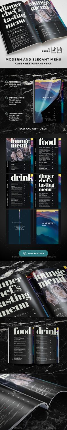 Menu   -  PSD Template • Only available here! ➝ https://graphicriver.net/item/menu-template/17170976?ref=pxcr