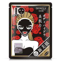 Black rose oil control sheet mask #k beauty #korean skincare #sheet mask #makeup #cosmetics