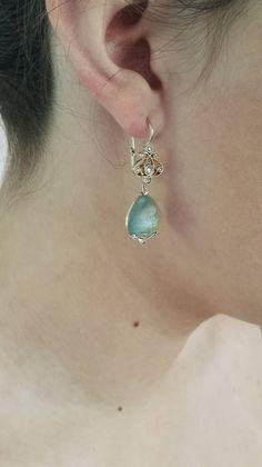 Dalben Aquamarine Diamond Gold earrings image 6