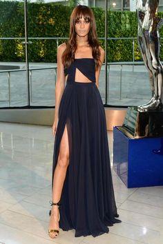 #JoanSmalls | The Best Dresses with Thigh High Slits - DesignerzCentral