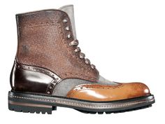 Even Bangkok's notoriously uneven pavements are no match for Santoni's four-hide Balmoral boots. Yes, for a mere 600 Euro you can conquer any concrete jungle and look cool doing so. Me Too Shoes, Men's Shoes, Shoe Boots, Man Boots, Shoes Men, Punk Shoes, Well Dressed Men, Brogues, Look Cool