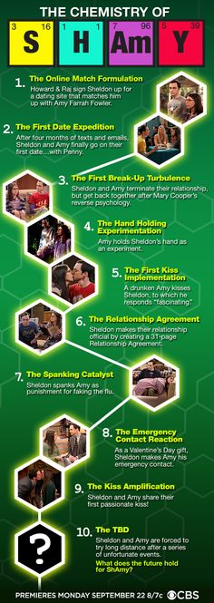 The Chemistry of Shamy: Infographic - The Big Bang Theory