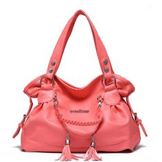 HIFISH HB10015 PU Leather Handbag for Women,Classic & Leisure Gift Shoulder Bags,Salmon. Based on the trend of different cultures, different times conditions, on different occasions, a woman's package decoration has evolved constantly changing form. You can enter the size of the bag, into the form of feet,. Twentieth century, women are brand-name command, package decoration has become a symbol of identity and the Nobility. Style shoulder bag roughly divided, shoulders, and diagonal hand…