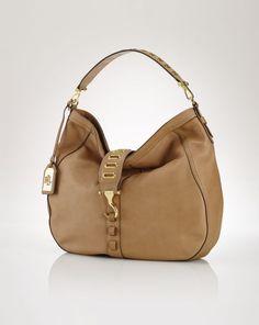 Grommet Leather Tote - Lauren Hobos & Shoulder Bags - RalphLauren.com