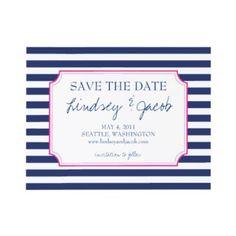 Preppy wedding invite.  My Website //www.simplycoutureweddings.com