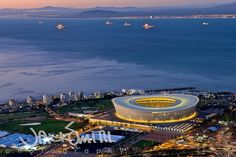 Cape Town Stadium by lightscape01, via Flickr #SouthAfrica