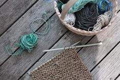 beach twine knits by Marnie Campbell, photo by Justine Hand, twine hot pad 2