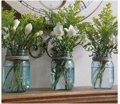 love the glass jars!