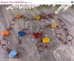 ON SALE MultiColored MoroccoInspired Artisan by PattiVanderbloemen, $63.20