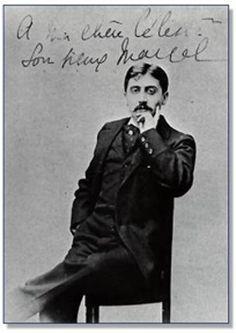 foto di Proust con dedica