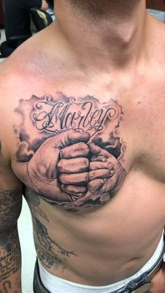 Daddy Tattoos, Brother Tattoos, Family Tattoos, Tattoos For Guys, Chest Tattoo Family, Rib Tattoos Men, Life Tattoos, Opa Tattoo, Fist Tattoo