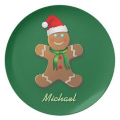 40% OFF ***Black Friday 2014*** Save 40% on plates TODAY ONLY with coupon ZAZBLACKDEAL Expires on Nov. 28, 2014 at 11:59 PM PT. Customizable Gingerbread Man Plates