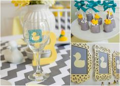 duck baby shower #duck #babyshower #chevron #yellowandgrey